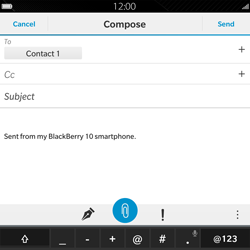 BlackBerry Passport - Email - Sending an email message - Step 10