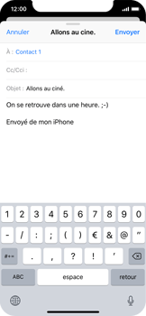 Apple iPhone X - E-mail - envoyer un e-mail - Étape 7