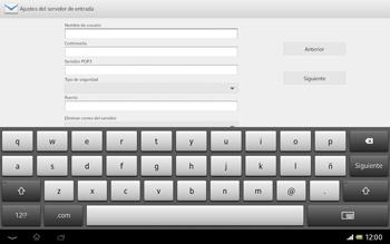 Sony Xperia Tablet Z - E-mail - Configurar correo electrónico - Paso 8