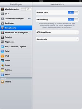 Apple iPad 2 - Internet - Handmatig instellen - Stap 2