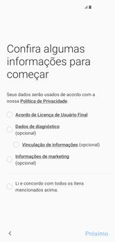 Samsung Galaxy S10 - Primeiros passos - Como ativar seu aparelho - Etapa 6