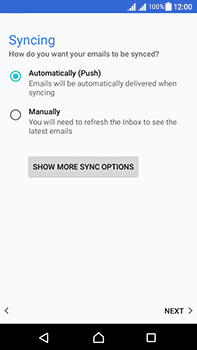 Sony Xperia L1 - Email - Manual configuration - Step 20
