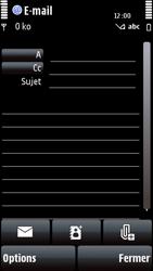 Nokia 5800 Xpress Music - E-mail - envoyer un e-mail - Étape 7