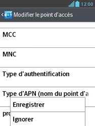 LG E430 Optimus L3 II - Internet - Configuration manuelle - Étape 16