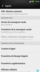 HTC One - Messagerie vocale - configuration manuelle - Étape 6
