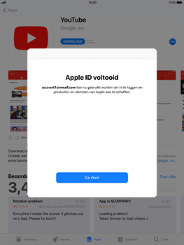 Apple iPad 9.7 (2018) - Applicaties - Account aanmaken - Stap 22
