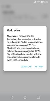 LG Q6 - Funciones básicas - Activar o desactivar el modo avión - Paso 5