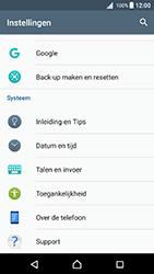 Sony Xperia X - Android Nougat - Device maintenance - Terugkeren naar fabrieksinstellingen - Stap 5