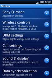 Sony Ericsson Xperia X8 - Internet - Enable or disable - Step 4