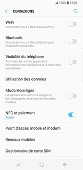 Samsung Galaxy S8 - Bluetooth - connexion Bluetooth - Étape 7