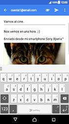 Sony Xperia XZ (F8331) - E-mail - Escribir y enviar un correo electrónico - Paso 15