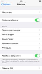 Apple iPhone 6 Plus iOS 8 - Sécuriser votre mobile - Personnaliser le code PIN de votre carte SIM - Étape 4