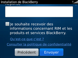 BlackBerry 9790 Bold - BlackBerry activation - BlackBerry ID activation - Étape 11