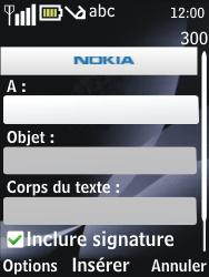 Nokia 2730 classic - E-mail - envoyer un e-mail - Étape 6