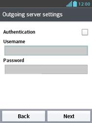 LG E430 Optimus L3 II - Email - Manual configuration - Step 19