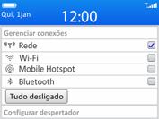 BlackBerry 9620 - Rede móvel - Como ativar e desativar o modo avião no seu aparelho - Etapa 3