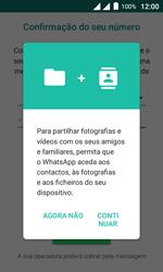"""Alcatel Pixi 4 (4"""") - Aplicações - Como configurar o WhatsApp -  6"""