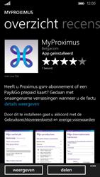 Nokia Lumia 830 - Applicaties - MyProximus - Stap 9