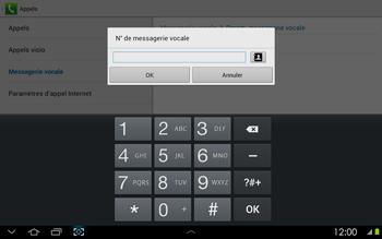 Samsung P5100 Galaxy Tab 2 10-1 - Messagerie vocale - configuration manuelle - Étape 9