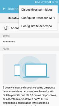 Samsung Galaxy On 7 - Wi-Fi - Como usar seu aparelho como um roteador de rede wi-fi - Etapa 7