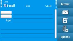 Nokia N97 - E-mail - envoyer un e-mail - Étape 6
