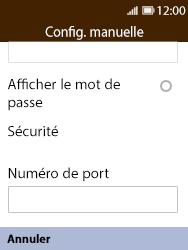 Nokia 8110 Banana - E-mail - Configuration manuelle - Étape 12