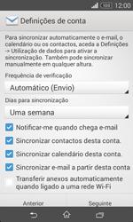 Sony Xperia E1 - Email - Adicionar conta de email -  8