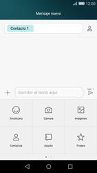 Huawei P8 Lite - Mensajería - Escribir y enviar un mensaje multimedia - Paso 8