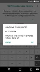 Sony Xperia XZ - Android Nougat - Aplicações - Como configurar o WhatsApp -  10