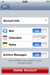 Apple iPhone 4 - Email - Manual configuration - Step 11