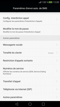 Huawei Mate S - Messagerie vocale - Configuration manuelle - Étape 5