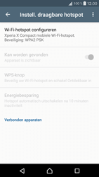 Sony Xperia X Compact (F5321) - WiFi - Mobiele hotspot instellen - Stap 10