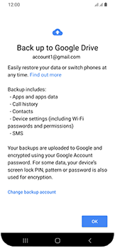 Samsung Galaxy A40 - Data - Create a backup with your account - Step 10