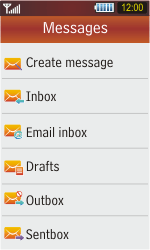 Samsung S5230 Star - E-mail - Sending emails - Step 4
