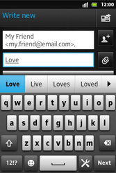 Sony ST27i Xperia Go - Email - Sending an email message - Step 8