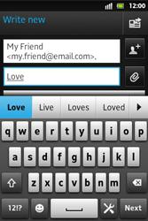 Sony ST27i Xperia Go - E-mail - Sending emails - Step 8