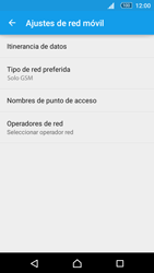 Sony Xperia M5 (E5603) - Red - Seleccionar el tipo de red - Paso 8