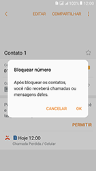 Samsung Galaxy J2 Prime - Chamadas - Como bloquear chamadas de um número específico - Etapa 8