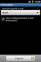 Samsung S7500 Galaxy Ace Plus - E-mail - e-mail instellen: IMAP (aanbevolen) - Stap 15