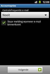 Samsung S7500 Galaxy Ace Plus - E-mail - Handmatig instellen - Stap 16