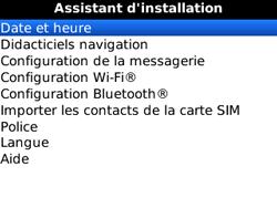 BlackBerry curve 3G - Premiers pas - Créer un compte - Étape 18