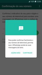 Samsung Galaxy S7 - Aplicações - Como configurar o WhatsApp -  12