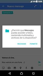 Sony Xperia XZ (F8331) - Mensajería - Escribir y enviar un mensaje multimedia - Paso 13