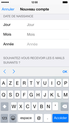 Apple iPhone 5s - iOS 8 - Applications - Créer un compte - Étape 16