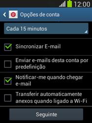 Samsung Galaxy Pocket Neo - Email - Adicionar conta de email -  8