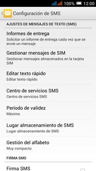 Alcatel Pop C9 - Mensajería - Configurar el equipo para mensajes de texto - Paso 7