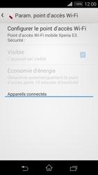 Sony Xpéria E3 - Internet et connexion - Partager votre connexion en Wi-Fi - Étape 7