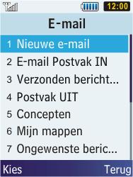 Samsung S5610 Primo - E-mail - e-mail versturen - Stap 3