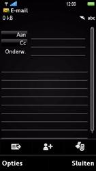 Sony Ericsson U1i Satio - E-mail - Hoe te versturen - Stap 5