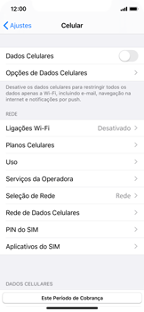 Apple iPhone X - iOS 13 - Rede móvel - Como ativar e desativar uma rede de dados - Etapa 5